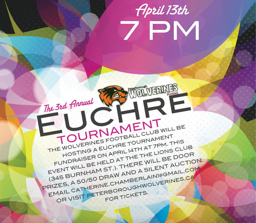 2019 Wolverines Euchre Tournament | April 14