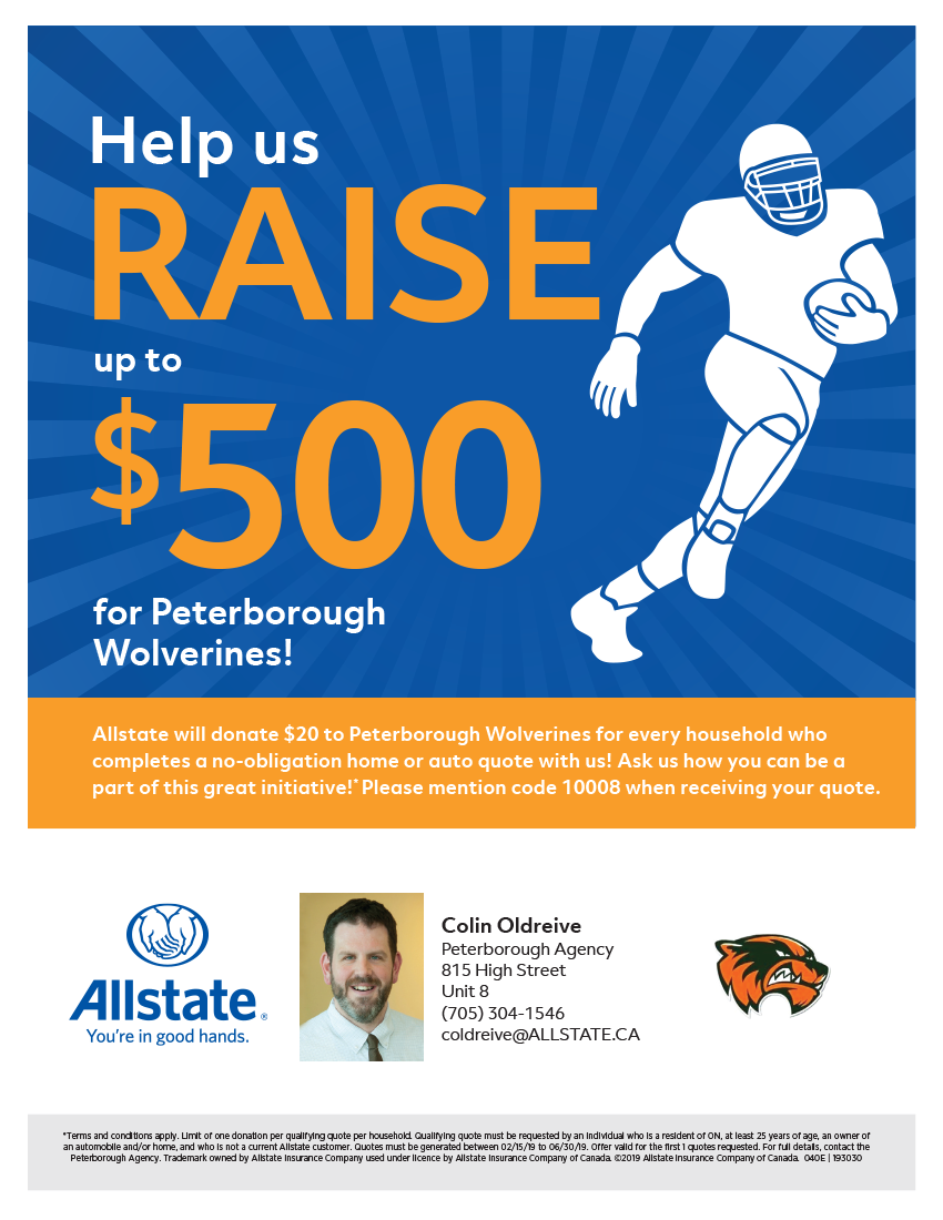 Raise Up To $500 For The Wolverines Fundraiser!